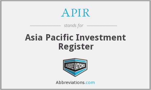 APIR - Asia Pacific Investment Register