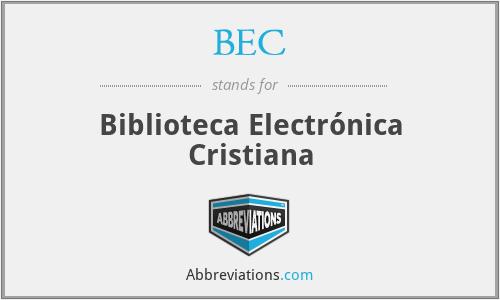 BEC - Biblioteca Electrónica Cristiana
