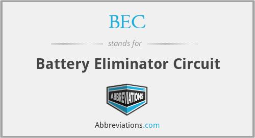BEC - Battery Eliminator Circuit
