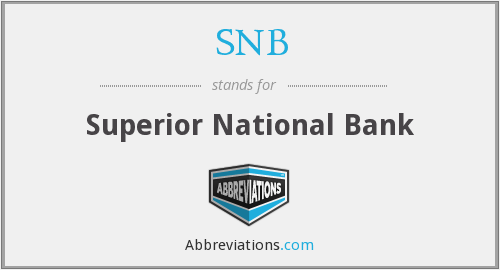 SNB - Superior National Bank