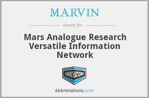 MARVIN - Mars Analogue Research Versatile Information Network