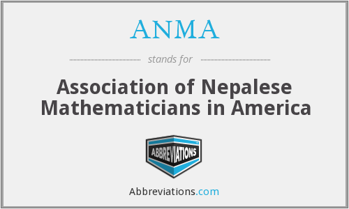 What does ANMA stand for?
