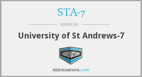 What does STA-7 stand for?