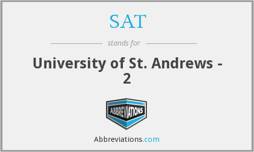 SAT - University of St. Andrews - 2