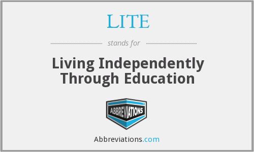 LITE - Living Independently Through Education