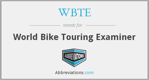 WBTE - World Bike Touring Examiner