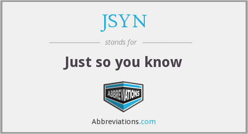 What does JSYN stand for?