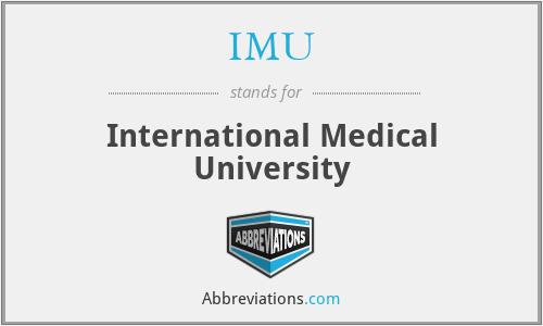 IMU - International Medical University
