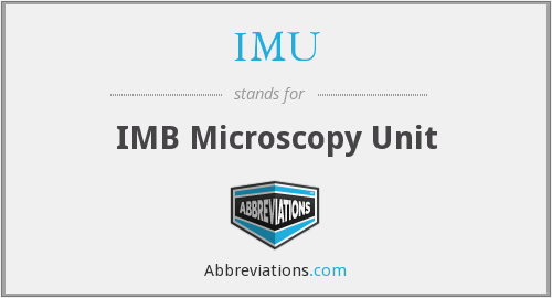 IMU - IMB Microscopy Unit