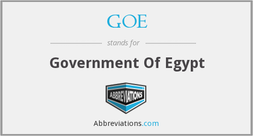 GOE - Government Of Egypt