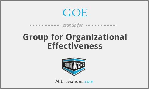 GOE - Group for Organizational Effectiveness