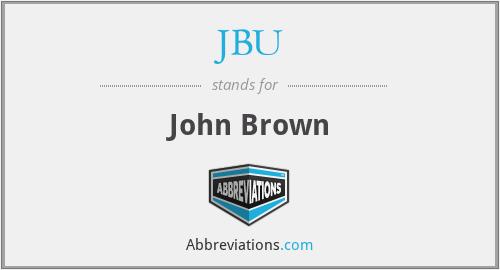 JBU - John Brown