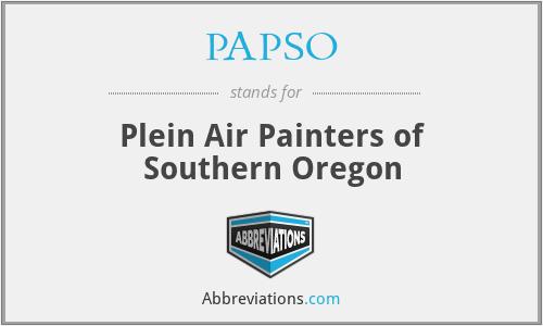PAPSO - Plein Air Painters of Southern Oregon