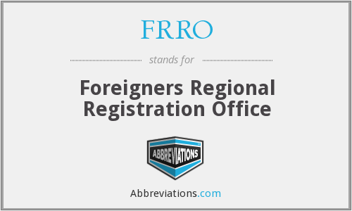 What does FRRO stand for?