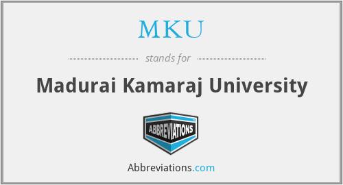 MKU - Madurai Kamaraj University