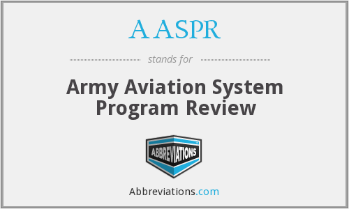 AASPR - Army Aviation System Program Review