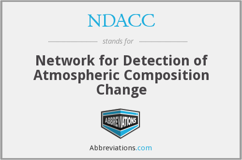 NDACC - Network for Detection of Atmospheric Composition Change