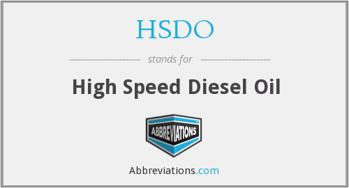 HSDO - High Speed Diesel Oil