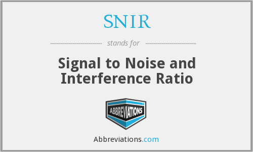 What does SNIR stand for?