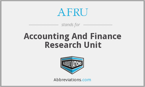 AFRU - Accounting And Finance Research Unit