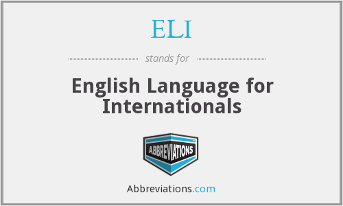 ELI - English Language for Internationals