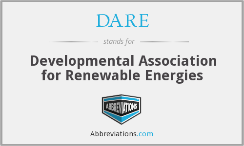 DARE - Developmental Association for Renewable Energies