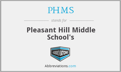 What does PHMS stand for?