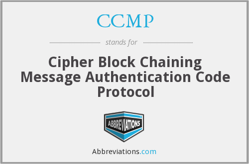 What does CCMP stand for?