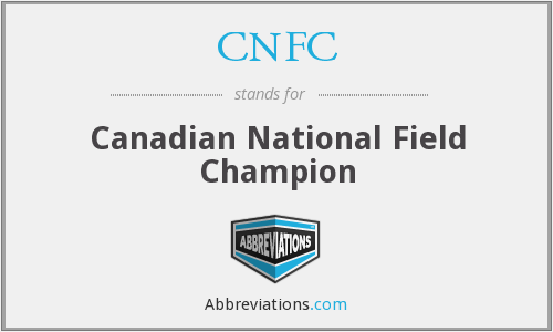 CNFC - Canadian National Field Champion