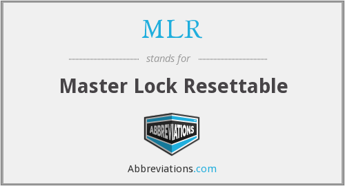 MLR - Master Lock Resettable