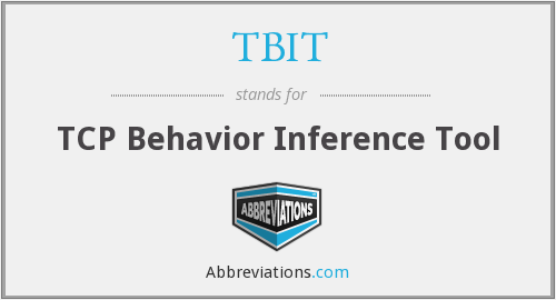 TBIT - TCP Behavior Inference Tool