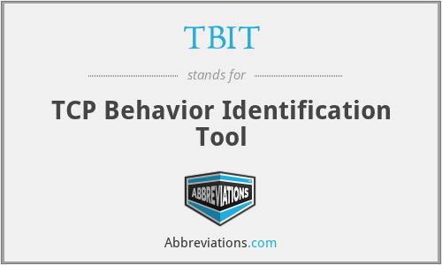 TBIT - TCP Behavior Identification Tool