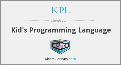 KPL - Kid's Programming Language