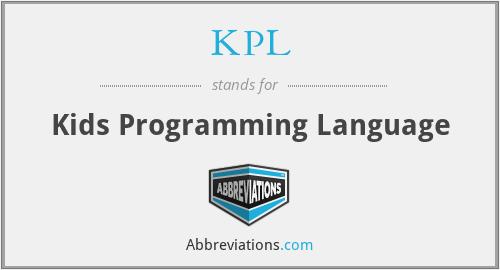 KPL - Kids Programming Language