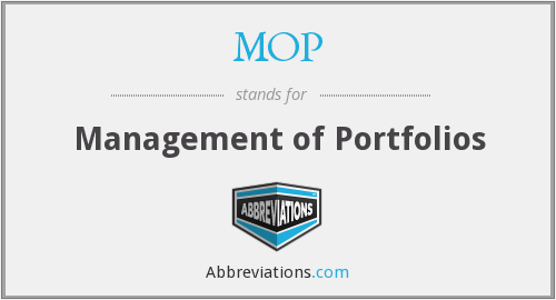 MOP - Management of Portfolios