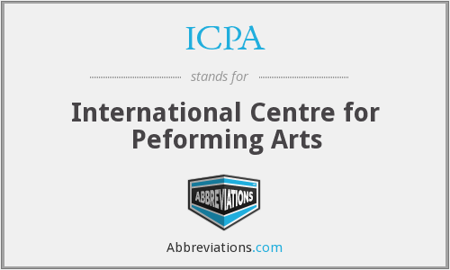 ICPA - International Centre for Peforming Arts