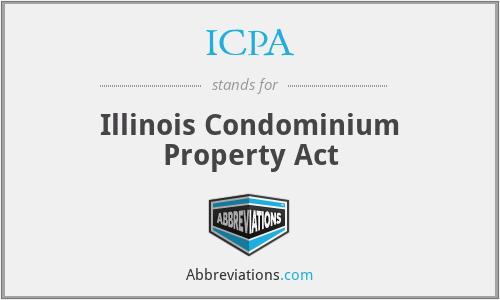 ICPA - Illinois Condominium Property Act