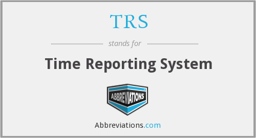 TRS - Time Reporting System