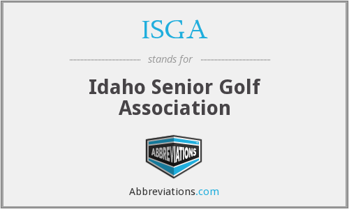 ISGA - Idaho Senior Golf Association