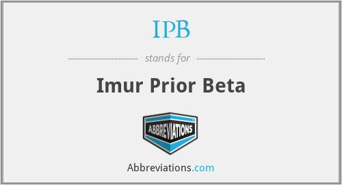 IPB - Imur Prior Beta