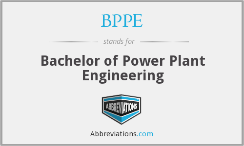 BPPE - Bachelor of Power Plant Engineering