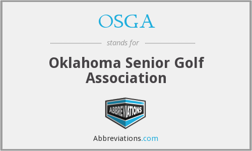 OSGA - Oklahoma Senior Golf Association