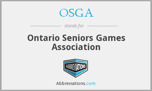 OSGA - Ontario Seniors Games Association