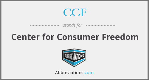 CCF - Center for Consumer Freedom