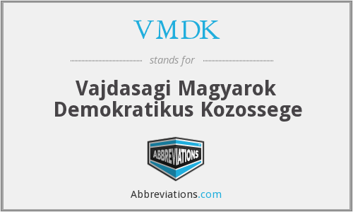 What does VMDK stand for?