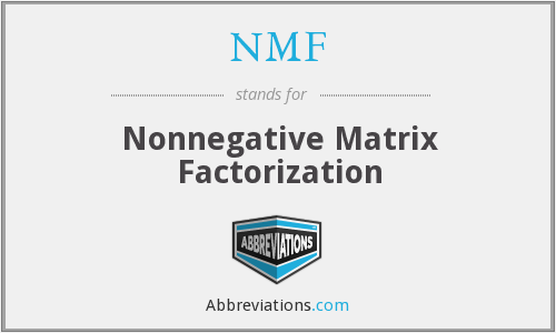 NMF - Nonnegative Matrix Factorization