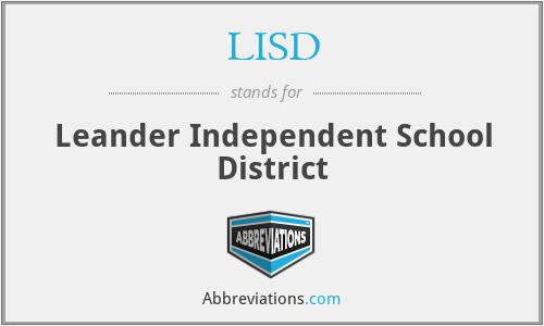 LISD - Leander Independent School District