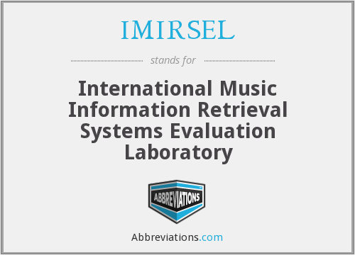 What does IMIRSEL stand for?