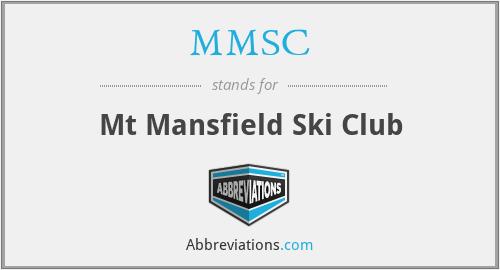 MMSC - Mt Mansfield Ski Club