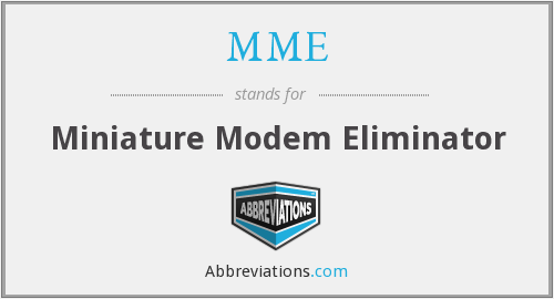 MME - Miniature Modem Eliminator